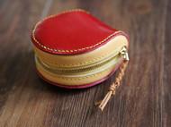 马卡龙零钱包 手缝牛皮杂物包手拿包零钱包