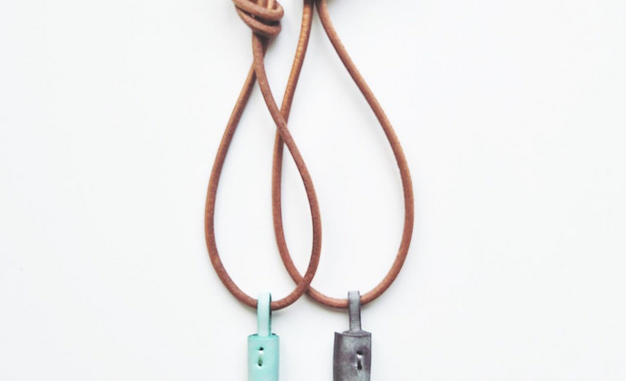 手工牛皮流苏挂件(材料包) - 意大利植鞣革头层牛皮