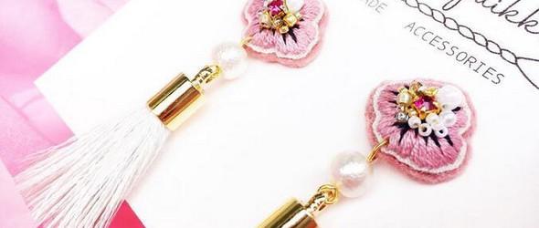 惊艳!这样的刺绣耳环你想要吗?