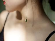 MQ奎妮小姐 优雅祖母绿宝石天然珍珠长耳线