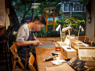 广州手工皮具体验 |Jade给在异地的女友亲手制作一条马缰革皮带。