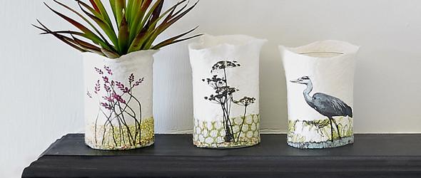 羊毛毡与手工印刷结合的纺织艺术 | Lindsey Tyson