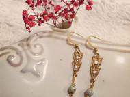 Venus&Felice 秋天響宴—黃銅雙葉耳環(可改夾式)