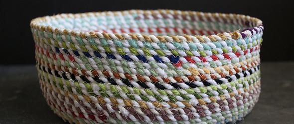 DIY图解教程:绳编篮子 / Rope Basket