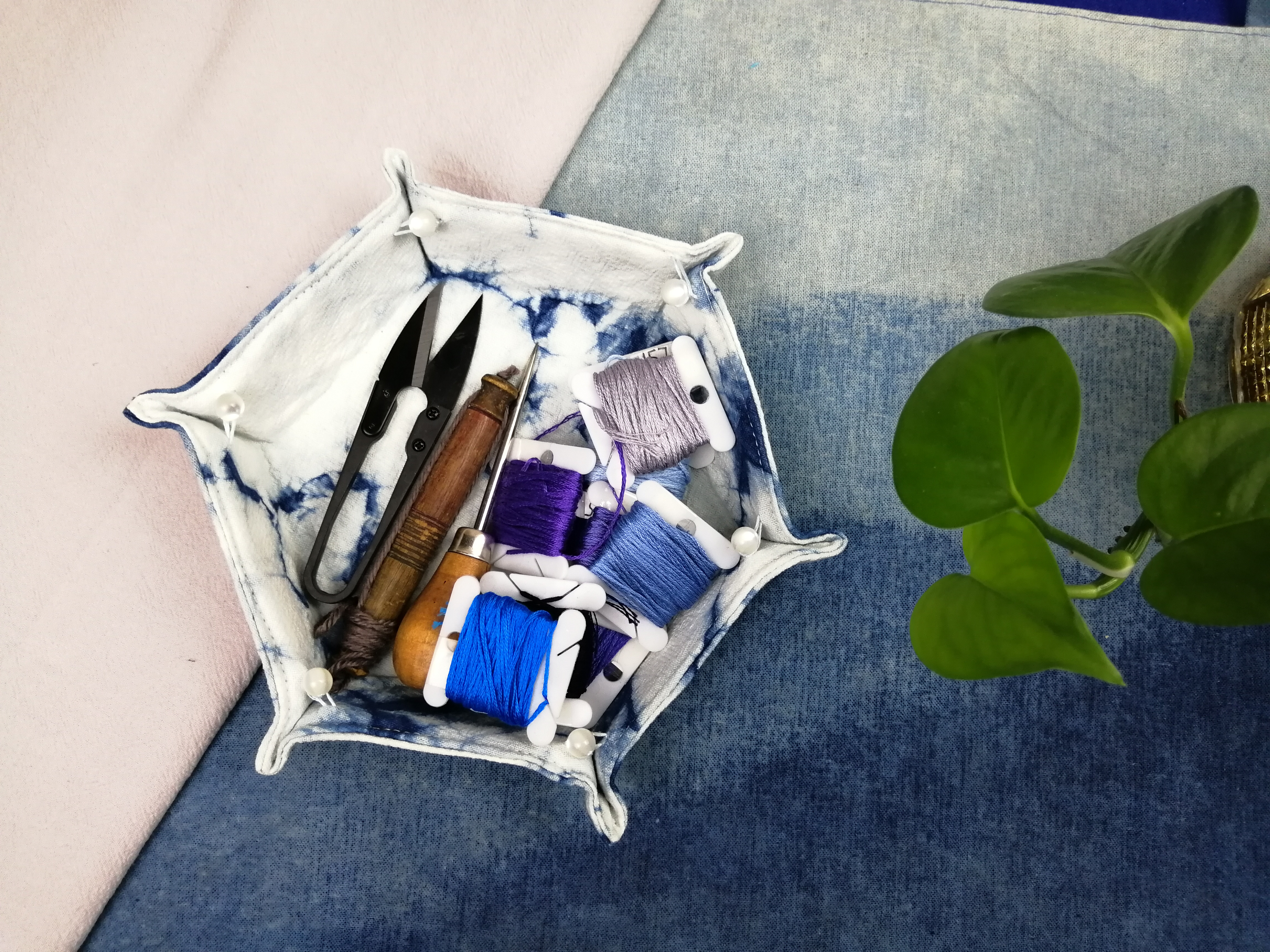 蓝染系列教程 | 04期:迷你收纳盘,给你的小物件找个容身之所