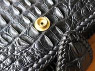 暹罗鳄背骨皮手拿包