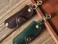 牛皮钥匙包 钥匙扣 植鞣革手工制作 EDC小钥匙包 简单款