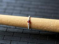 天然石榴石99纯银戒指细款包邮拍下留下戒指号码