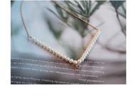 M.Q奎妮小姐 几何系列·深V/性感个性天然珍珠项链
