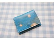 手工皮具 星空系列 短款小钱包 零钱包