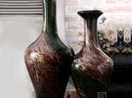 玻璃花瓶新古典家居摆件 复古大花瓶摄影装饰工艺品欧式插花花器