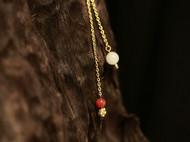 三生三世款,柒言原创-925银镀金 配南红珠子+和田白玉青海料珠子