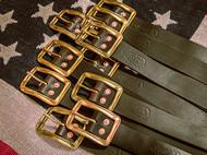 美式复古手工腰带,RRL风格
