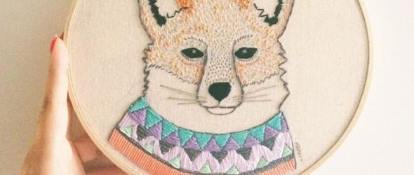 墨西哥艺术家/插画家 Indi Maverick  - 动物刺绣