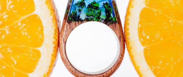戒指里的魔幻世界 - @my.secret.woods 幻境树脂戒指