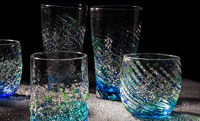 日本进口水野硝子「夜光杯],让夜晚