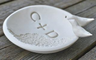 DIY Project - 自制漂亮印花图案加字母的粘土碗diy教程
