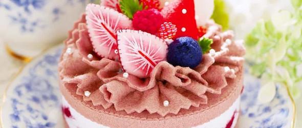 超逼真的羊毛毡蛋糕与刺绣口罩 | 南木裕子