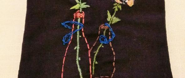 缝缝绣绣出个杯垫