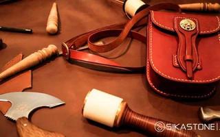 手工皮革基础之手缝十字针法