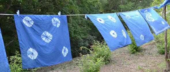 传统草木染 - 靛蓝染色和扎染