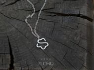 【影】初原创设计 手工纯银饰品|99纯银项链 锁骨链 花形吊坠
