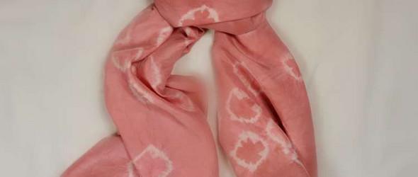 做一条草木染围巾