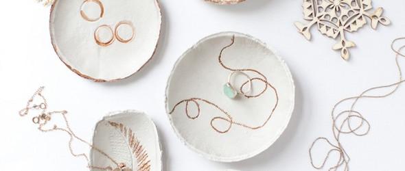 DIY粘土手工制作教程:手工制作印花(印章)粘土碗