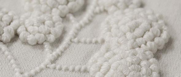 澳大利亚刺绣大师 Yvette Stanton 与爱尔兰粗线白绣(Mountmellick)
