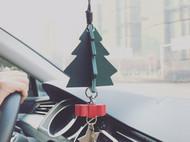 意大利植鞣牛皮圣诞树车挂圣诞节快乐
