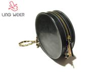 LINGWEIER原创女式复古圆筒包马缰革挎包
