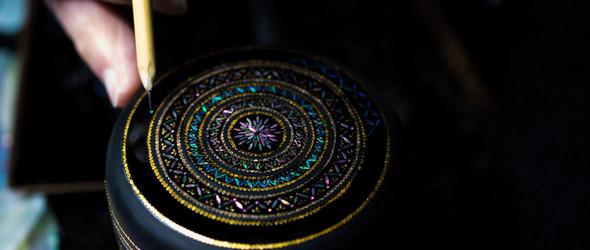 雅致闪亮的螺鈿配饰 |日本螺鈿职人野村拓也作品集
