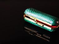 鳄鱼皮口红包发卡包口金包