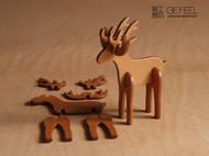 麋鹿意大利植鞣皮手工摆件