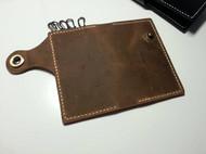 【Suellen】手工复古 头层牛皮 疯马皮 多功能零钱包卡包钥匙包