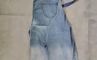 简单十步将破牛仔裤变身为工作围裙