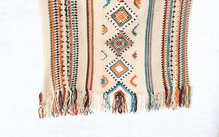 印第安风情盖毯钩编教程