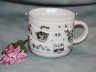 手工原创咖啡杯 独家设计萌头像