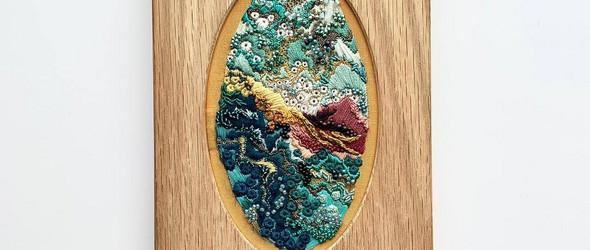 一种创作,二种观感,是刺绣,更是画作  | Jennifer Lamontagne