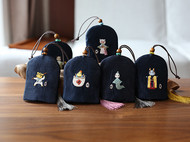 花暖 原创设计 手工刺绣 十二生肖钥匙包民族风配饰中国风礼物 龙