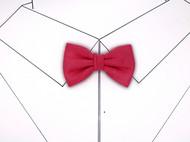 小可爱和小领带复古玫红色三折领结支持定制