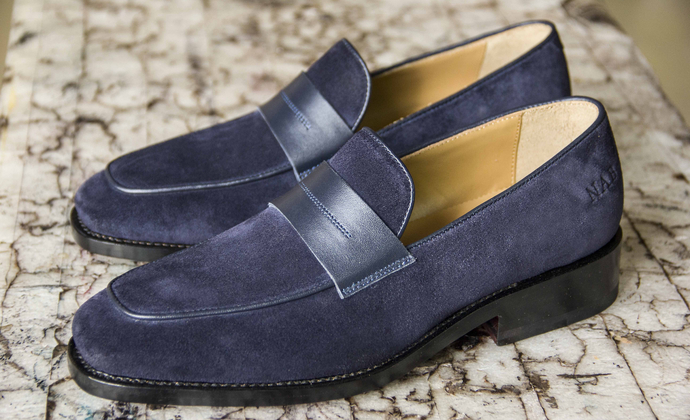 真皮莫卡辛鞋 男女款套口鞋 支持私人定制