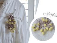 MAYIN FRIDAY 金合欢 编织胸针 仿真植物花朵