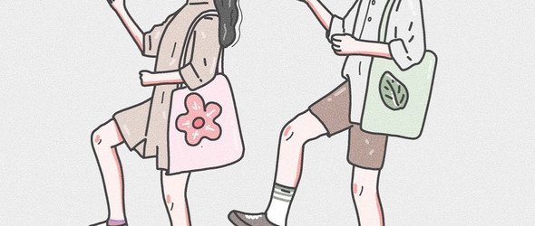 画尽情侣间的亲密时刻:@deksinx