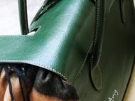 【马蹄莲】纯手缝意大利植鞣方块皮复古拎包单肩包公文包