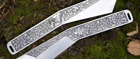 独特雕刻花纹的手工刀具 - 俄罗斯刀匠 Fomin Ivan 刀匠精选集