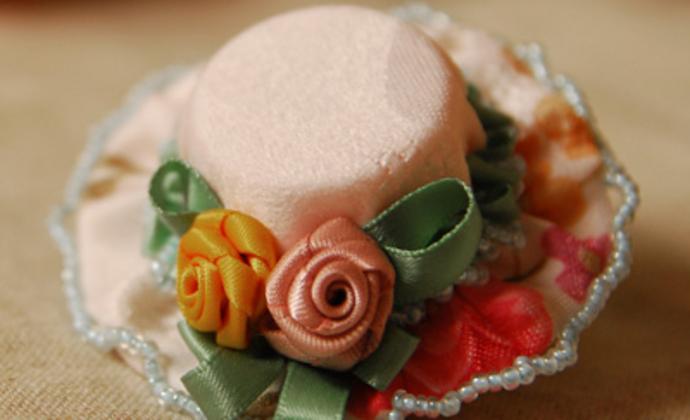 布艺小帽子花朵头饰头花发饰品淑女童话公主唯美发夹边夹原创手工