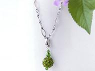 水鑽珠墬飾項鍊(綠)