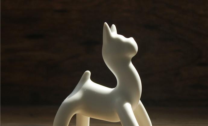 旺财 白狗茶宠雕塑【八九燕来】