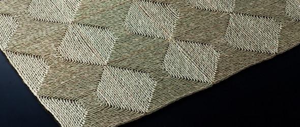 传统日本蔺草( 七島イ)编织艺术